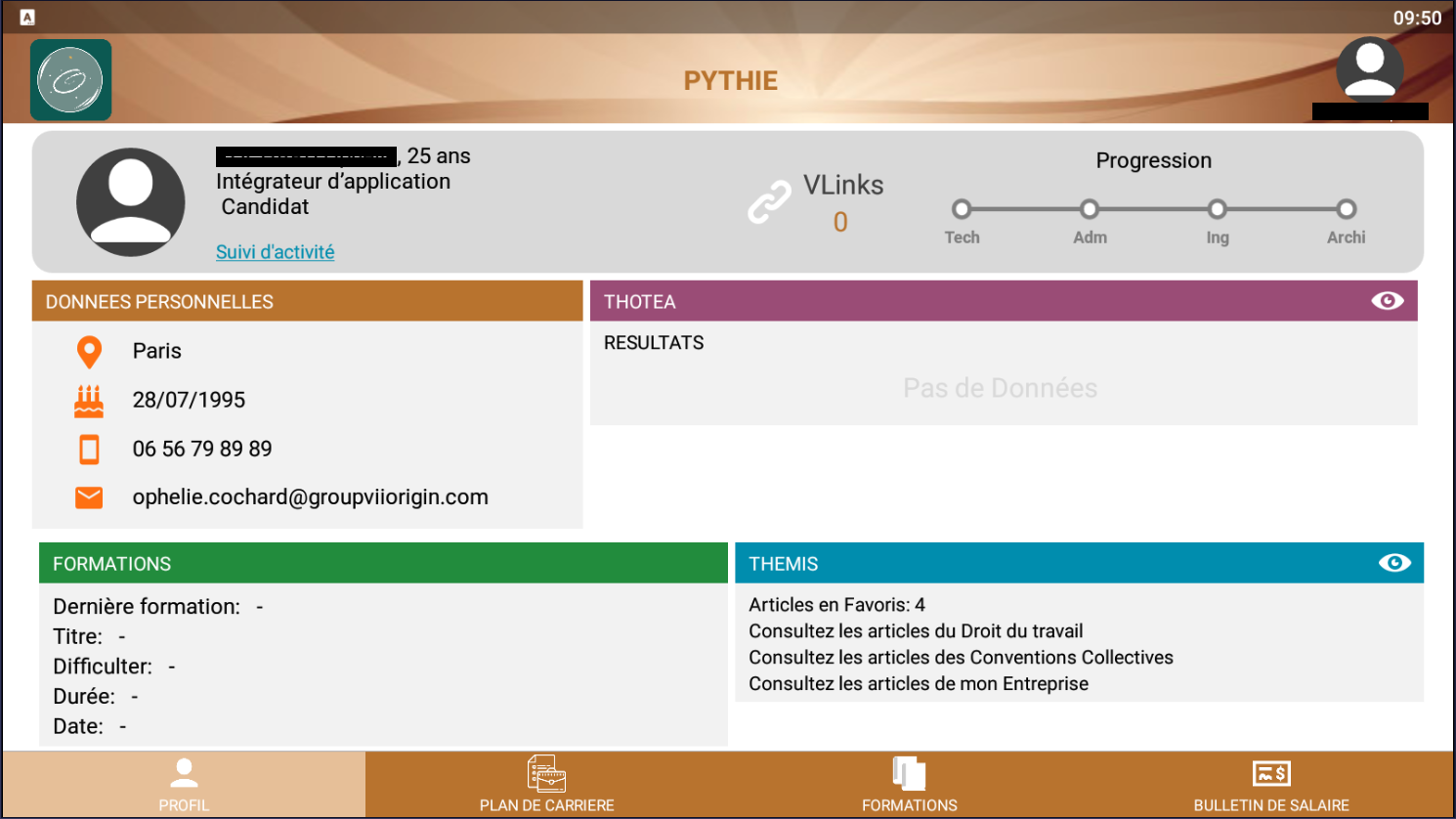 V'PYTHONISSE : application qui permet de concentrer toutes les informations des autres applications afin de déterminer la valeur digitale de toutes personnes physiques ou morales