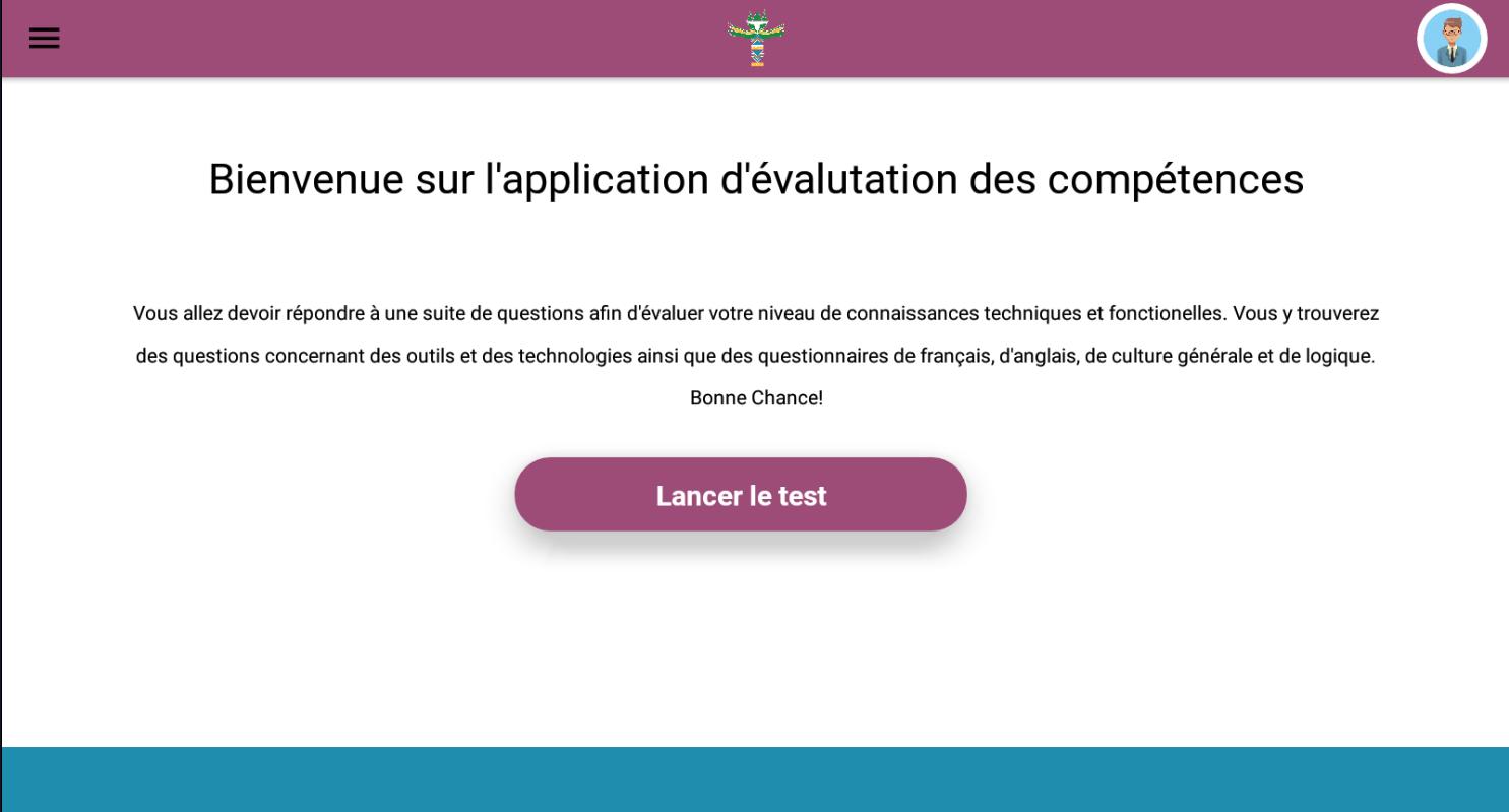 V'THOTEA : application qui permet par le biais de plusieurs tests d'évaluer le niveau « technique » des candidats
