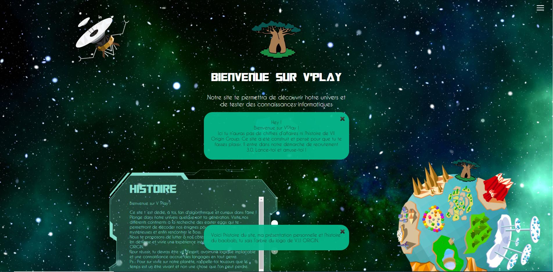 V'SPIEL : première phase de recrutement, prise de connaissance avec l'univers de l'entreprise